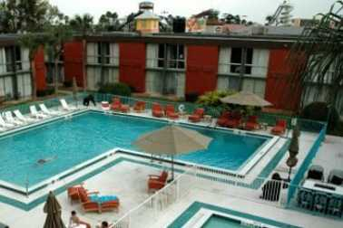 One of two 400-pound gorillas was stolen from the hotel pool at the Orlando Metropolitan Express this week.