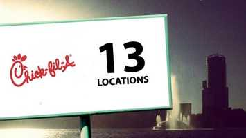 Chicken sandwiches from Chick-fil-A can be found at 13 Orlando locations.