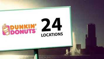 Orlando residents who run on Dunkin have 24 locations to choose from.