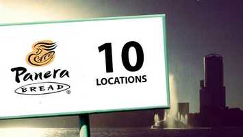 Panera has 10 restaurants in Orlando.