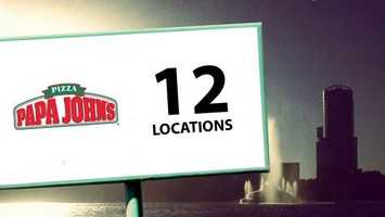 Papa John may have started in a broom closet, but the pizza chain now has 12 locations in Orlando alone.