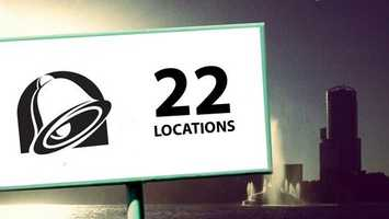 Orlando is home to 22 Taco Bell restaurants. That's a lot of chalupas.