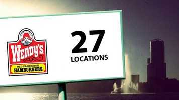 The Baconator hamburger line is available at 27 Wendy's locations across Orlando.