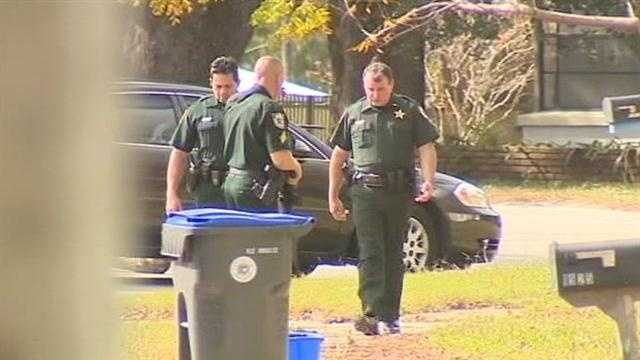 A Brevard County man barricaded himself inside of his home Friday.