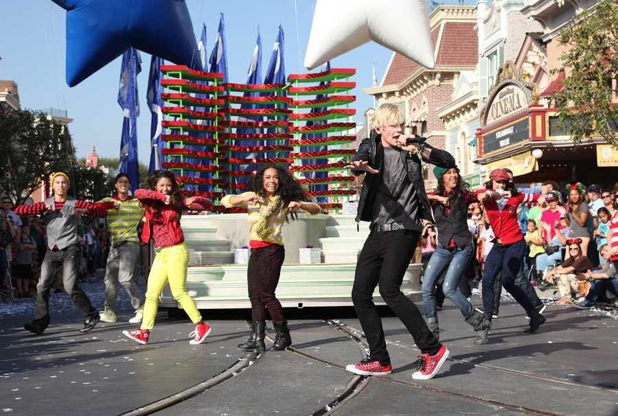 """Disney Channel star Ross Lynch performs during the taping of the 2012 """"Disney Parks Christmas Day Parade."""""""