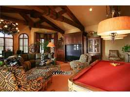 Spacious living room with room for a full-size pool table and then some.