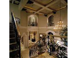 Wrap around stairs and indoor balconies.
