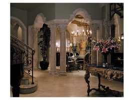 Extravagant foyer.