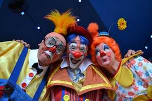Several members of the ensemble are graduates of the famed Ringling Bros. and Barnum & Bailey Clown College.