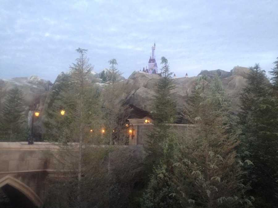 Beast's castle sits atop a mountain inside new Fantasyland.