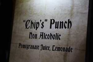 """A special drink called """"Chip's"""" Punch was available for guests.  It was a non-alcoholic beverage that included pomegranate juice and lemonade."""