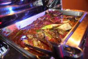 Ratatouille Napoleon with tomatoes was also on offer.