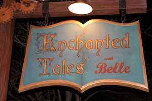 Did you know there are more than 12,000 books in the library at the Enchanted Tales with Belle?