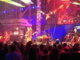 The band One Republic capped off the night with a concert.