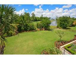 The home also has views of the nearby pond and golf course.