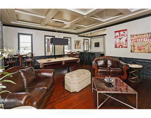The home has its own billiards and bar room.