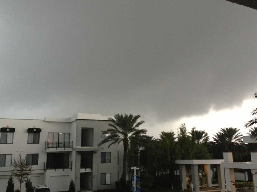 Clouds form in Lake Mary.