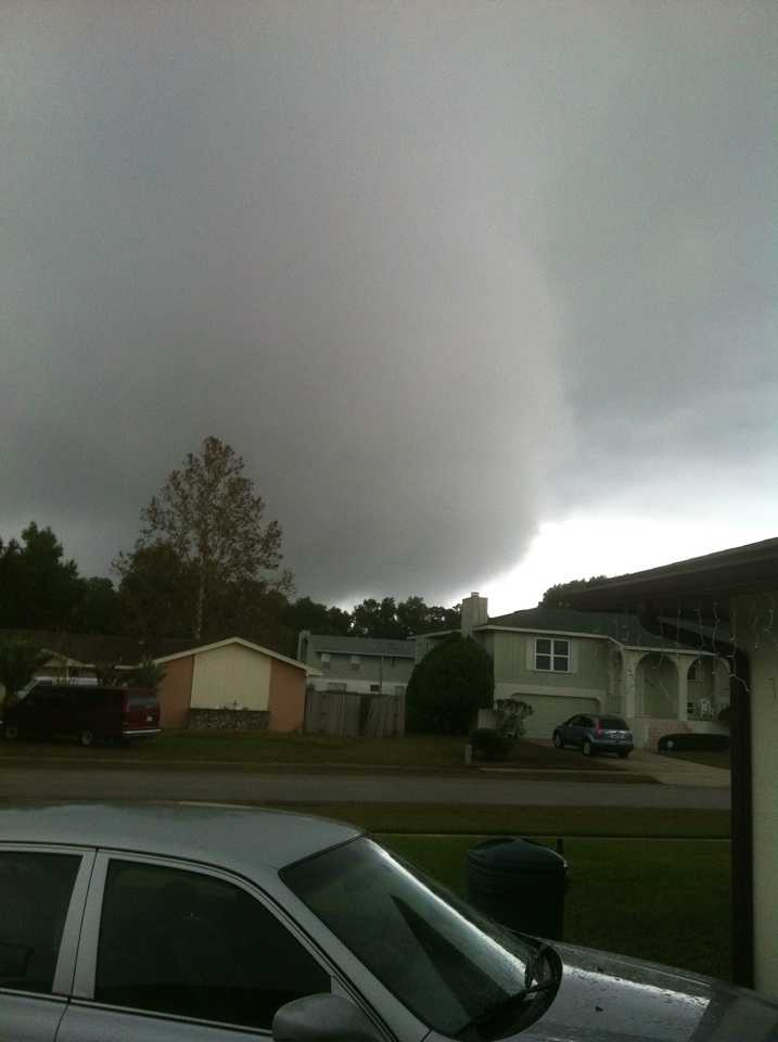 Heavy clouds in Wekiva Springs.