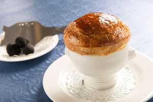 Soufflé chaud au grand Marnier (warm Grand Marnier soufflé)