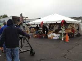 Here is a view from behind-the-scenes at the drop off locations for Share Your Christmas.