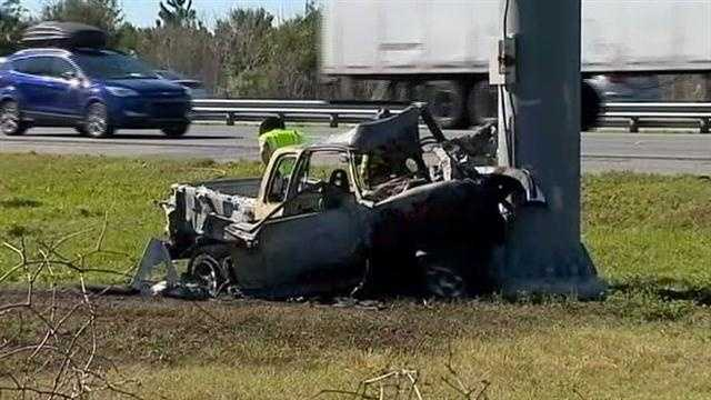 A woman lost her life in a crash along northbound Interstate 95 in Ormond Beach early Friday.