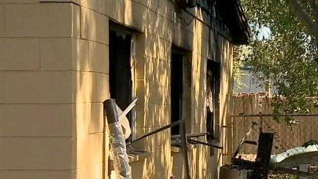 Two people are safe after a fire spread through a home in Orange County in just minutes on Monday morning.