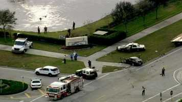 The crash happened some time before 3:50 p.m. Thursday in front of the Church of Viera.