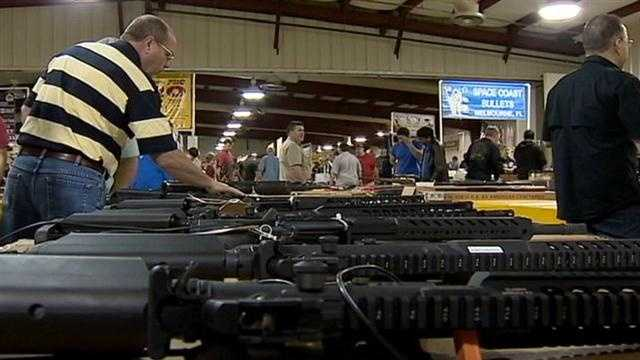 Ahead of possible gun law changes, thousands of locals flooded a weekend gun show in Central Florida.