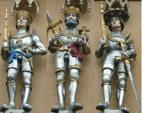 This trio of knights can be found somewhere at the Disney Parks.  Do you know where you can find these guys?