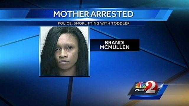 Mother arrested accused of shoplifting with her baby in hand in Ocala.