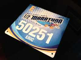 WESH 2 First Alert Meteorologist Eric Burris (@ericburris) took on the Disney half marathon this weekend. It was his first half marathon, and he said getting the badge was his first taste of reality.