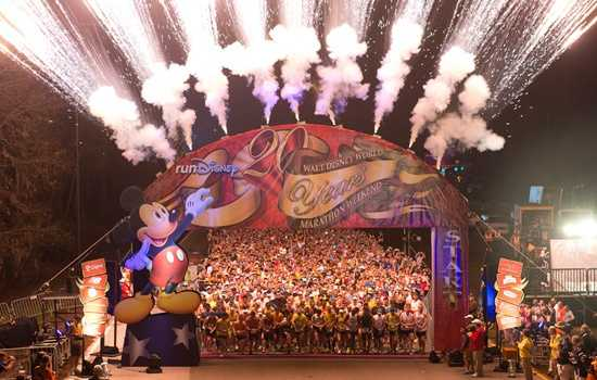 Thousands of runners woke up well before sunrise Sunday morning for the Disney marathon, which kicked off at 5:30 a.m.