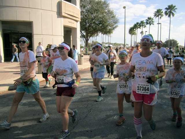All of the money raised from the run benefits the Second Harvest Food Bank of Central Florida.