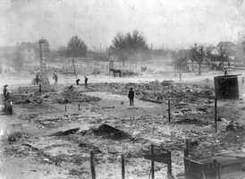 1918: Destruction of the city after a tornado in Jan. 1918.