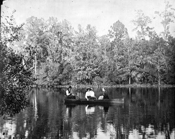 1920: Group on Dream Lake in a row boat