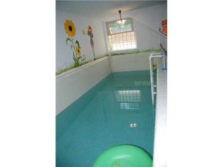 You'll find three basements, one of which has an indoor pool.