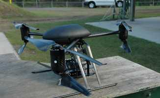 The office tweeted out three pictures of one of the Dragonflyer X6 drones Thursday.