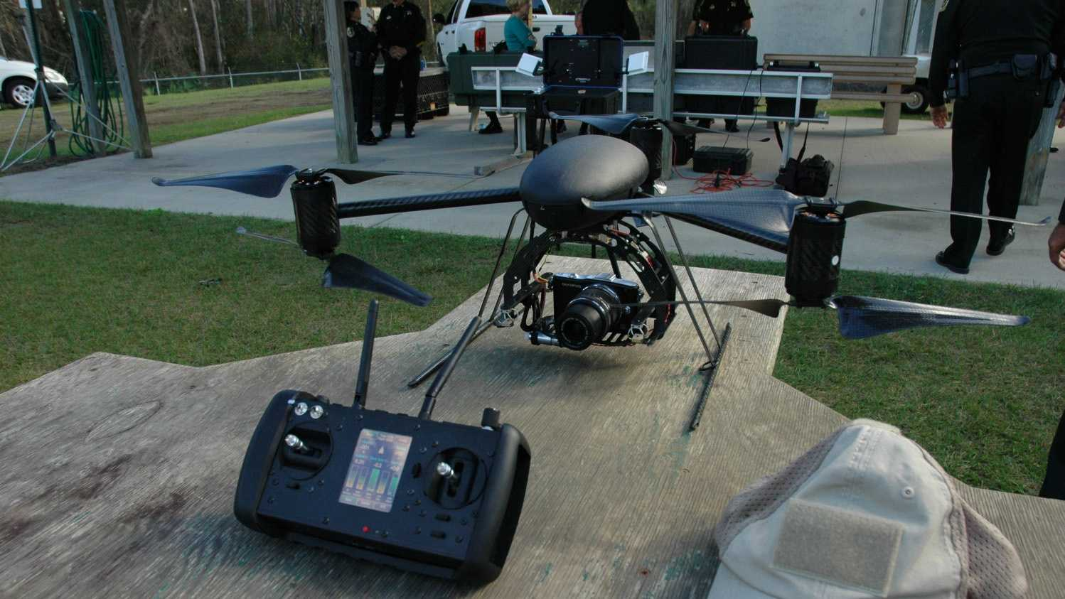 The Orange County Sheriff's Office is showing off its new $25,000 surveillance drones.