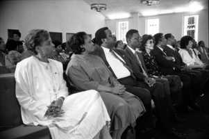 Legislators in a church during a signing ceremony for the Martin Luther King Jr. bill in Tallahassee in 1988.
