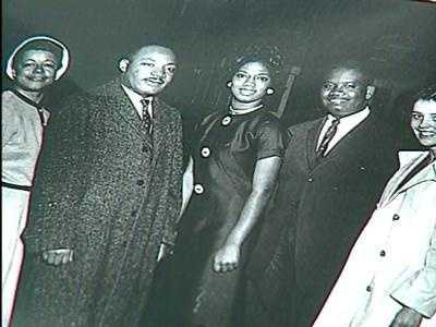 Dr. Martin Luther King Jr. spoke at Tinker Field in Orlando during a 1964 rally.