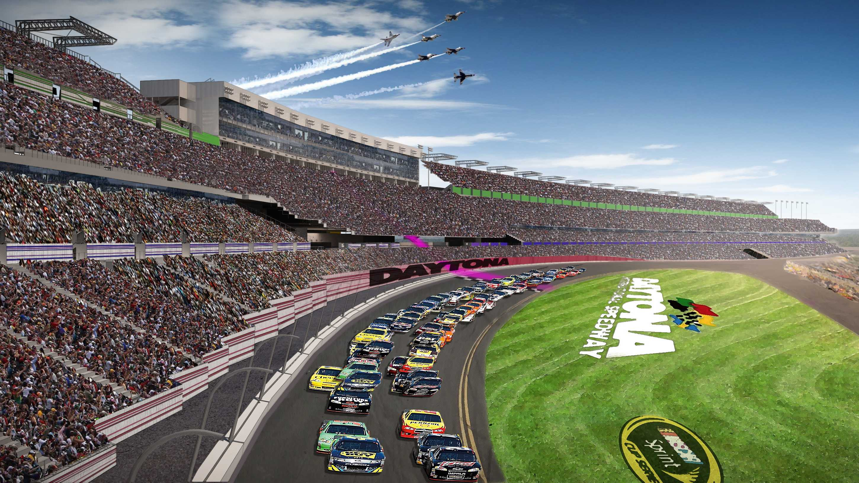 Officials with Daytona International Speedway revealed the first concept drawings of the proposed redevelopment of the facility.
