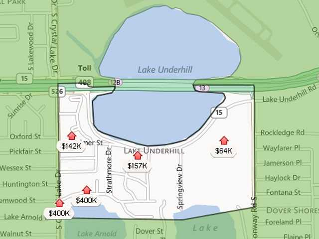 4. Lake UnderhillEstimated home value increase: 7.7%Estimated home value in Dec. 2013: $145,170