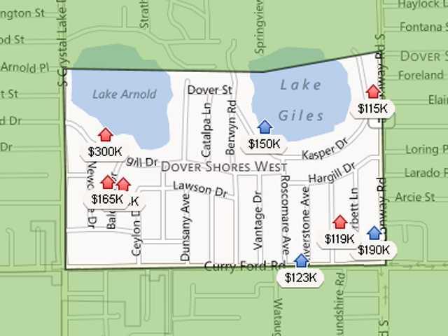 7. Dover Shores WestEstimated home value increase: 6.1%Estimated home value in Dec. 2013: $169,899