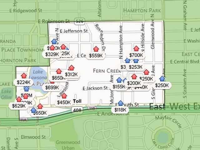 13. Lawsona/Fern CreekEstimated home value increase: 4.9%Estimated home value in Dec. 2013: $204,070