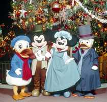"Years ago, the gang reenacted ""The Christmas Carol.""  Minnie Mouse was Bob Cratchit's wife."