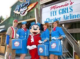 In California, Minnie and her Fly Girls are ready to hit the skies.