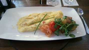... the salmon omelete ...