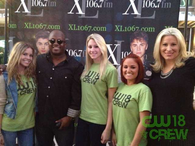 The CW18 Crew rocked the Justin Bieber concert with WXXL Friday night! Crew members Danielle, Kelsey, and Michelle pose for a pic with WXXL's Johnny and Laura Diaz.