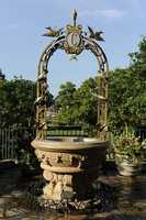 """The """"C"""" for Cinderella can be found at Cinderella's Wishing Well near her castle at the Magic Kingdom.  Did you make a wish?"""