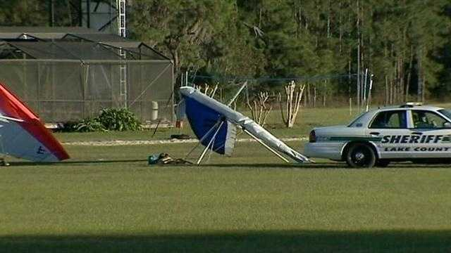 One man killed in Hang gliding crash at Groveland Airport in Lake County.